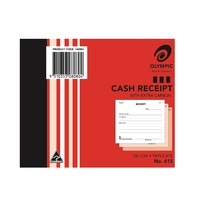 Cash Receipt Books 4x5 Triplicate 615 - each 140884 Olympic