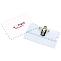 Name Badge Pin and CLIP Recycled Box 50 90051 Rexel