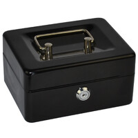 Cash Box  6 Inch I06 Black Italplast Metal I06BLK