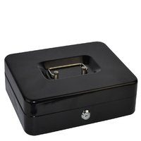 Cash Box 10 inch Italplast Metal 10 Inch Black