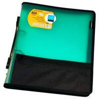 Compendium Zipper Folio A4 Foldermate Green 860 - each