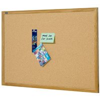Corkboard  900x1200mm Oak Quartet QT304 PICK ONLY, CANNOT SHIP THIS BOARD wood frame
