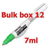 Correction Pen 7ml Liquid Paper x 12 Needle point