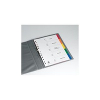 Divider A4 Avery Polyprop 5 Plain Tabs Coloured L7411/5  85625