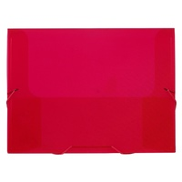 Document File Avery 25mm Red Translucent 47709
