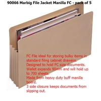 File Jackets MANILLA Marbig 90066 - pack 5