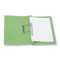 Spiral Spring Transfer File Green Jiffex 4003504 Foolscap sold each