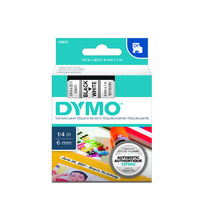 Dymo Label Tape D1  6x7m Black on White Tape SD43613 S0720780