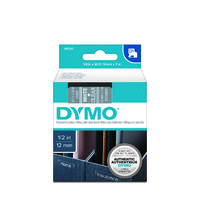 Dymo Tape D1 12x7m White On Clear SD45020