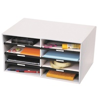 Sort N Stor Grey Marbig 80088 Eight handy compartments for file storage