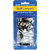 Lanyard Breakaway Black for Staff pack 5 Kevron ID1046SP5