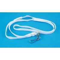 "Lanyard Breakaway White pack 25 ID1018W 965mm (38"") approx length"