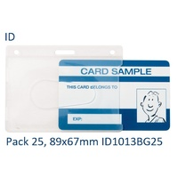 Card Holder ID  ID1013BG25 Kevron pack 25 Holders size 89x67mm Card size 86x54mm