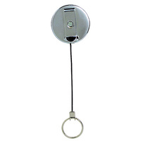 Key Holder Retractable Metal Rexel With Ring Black Hangsell 9810702