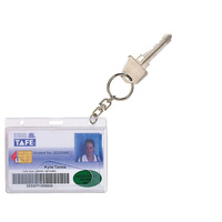 Card Holder Credit Fuel 9801912 Pack 10 Rexel  + Key Ring Clear