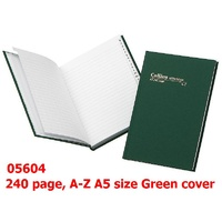 Notebook A5 A-Z 240 page Collins 05604 - each 120 leaf