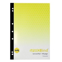Lecture Pad A4 Side 140 page pack 10 Marbig 18055E 7 holes