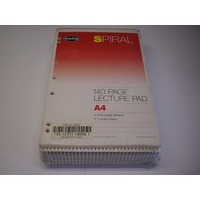 Lecture Pad A4 Top 140 page pack 10 Marbig 905  #18056