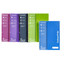 Notebook A4 Spiral 120 page pack 10 1716199G side open Spiral Marbig coloured covers