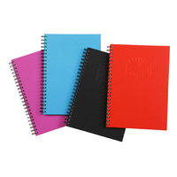 NoteBook A4 Spiral Hard Cover 200 page assorted Spirax 512 - pack 4