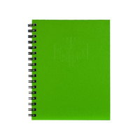NoteBook A4 Spiral Hard Cover 200 page Green Spirax 512 - pack 5