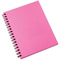 Notebook 225x175mm Hardcover 100 Leaf Pink Pack 5 Spirax 511