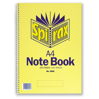 Notebook A4 Spiral 240 page side open Spirax 595A - pack 5