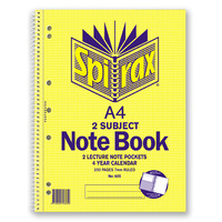 Notebook A4 2 Subject - pack 5  Spirax 605
