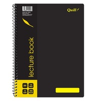 Lecture Book A4 140 page pack 10 Quill Q906 10506A 70 leaf