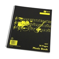 Music book spiral bound Q568 Quill 10568 - pack 10