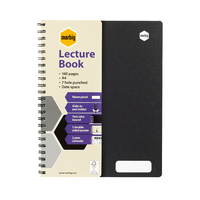 Lecture Book A4 140 page pack 10 Marbig 17181F 70 leaf Black PP