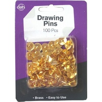 Pins Drawing Brass head - pack 100 8mm legs