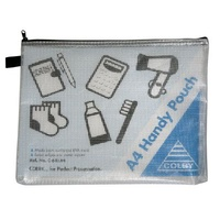 Handy Pouch A4 Zippered C641A Colby Black 275x350mm
