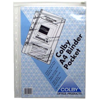 Binder Wallet A4 Document holder Clear Punched with zip - 145ACLEAR sold each holds 50 sheets 247x310mm