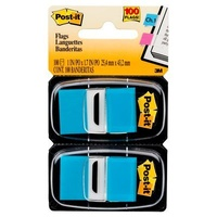 Flags Post it 680-BB2 Bright Blue 25x43mm 2 pack 3M ID 70071205937