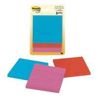 Post It Note 76x76mm 6301 LINED Assorted Ultra Pack 3 #6301 3M