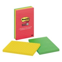 Post it Notes  98x149 660-3SSAN Lined 90 Sheets Pack 3 Super Sticky