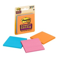 Post It Note  76x76mm 3321-SSAN Super Sticky 45 Sheets Pack 3 MARRAKESH