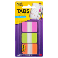 Tabs Post It Durable 25mm 686-PGO Pink Green Orange 25x38mm 3pk, 3M