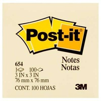 Post It Note  76x 76 x12 654 pack 12 Canary Yellow Original Pastel