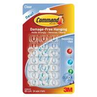 Command Adhesive Decorating Clip 17026CLR 20 Clips 24 Mini Strips 3M ID XA006701552 CLEAR
