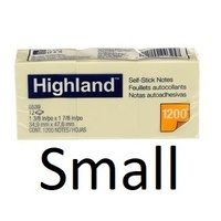 Post It Note  35x48 x12 6539 Highland Pad 3M Small