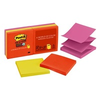 Post It Pop Up Notes R330 6SSAN Super Sticky 76 x 76mm Neon -+ pack 6