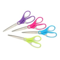 Scissors 210mm Marbig Comfort Grip No 8 Summer Colours 975431 -