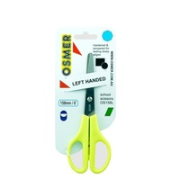 Scissors 160mm Osmer Green Left Handed OS160L/OS158L - each