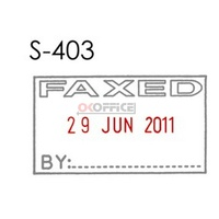 Stamper Dater Faxed date 4mm S403 date Shiny - each