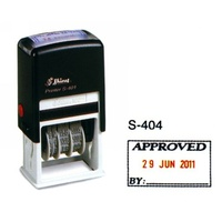 Stamper Dater 4mm Approved S404 Self inking stampers Shiny