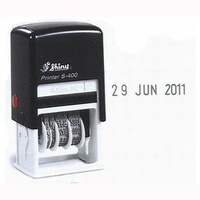 Date Stamper 4mm Date only S400 SELF INKING  Shiny