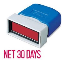 Stamp Pre-inked Net 30 Days Red SEN151 self inking stampers