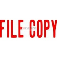 Stamp Pre-inked FILE COPY in Red Xstamper 1071 - each
